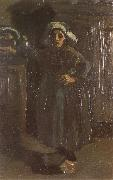 Vincent Van Gogh Peasant Woman Standing Indoors (nn04) oil painting picture wholesale